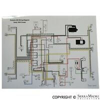 Full Color Wiring Diagram, Porsche Early 1953 356 Pre-a, Volt. Reg On Generator