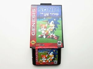 Sonic the Hedgehog - The Lost Worlds Game / Case Sega Genesis Fan Made Mod (USA)