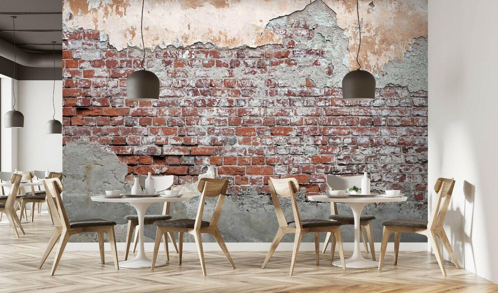 3D Backsteinmauer Q226 Geschäft Tapete Wandgemälde Selbstklebend Handel Amy