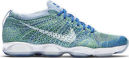 Women's Nike Flyknit Zoom Agilty Chalk Blue Running Training Shoes* Size 8.5