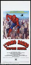 L'UOMO RAGNO COLPISCE ANCORA LOCANDINA CINEMA SCI-FI MARVEL 1978 PLAYBILL POSTER