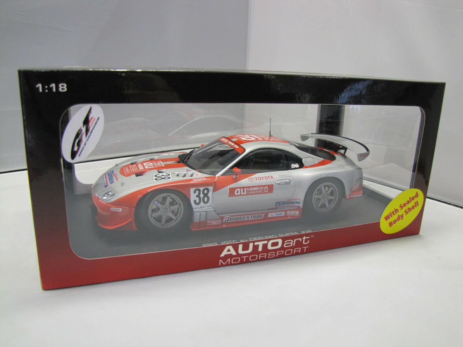 80317 Autoart TOYOTA SUPRA JGTC 2003 au CERUMO n. 38 - 1:18