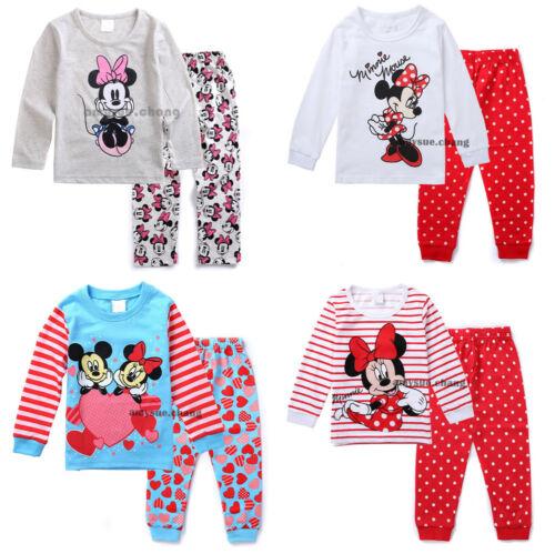 Kid Baby Girl Children T-shirt Top+Pants Pajamas Clothes Set Sleepwear Nightwear