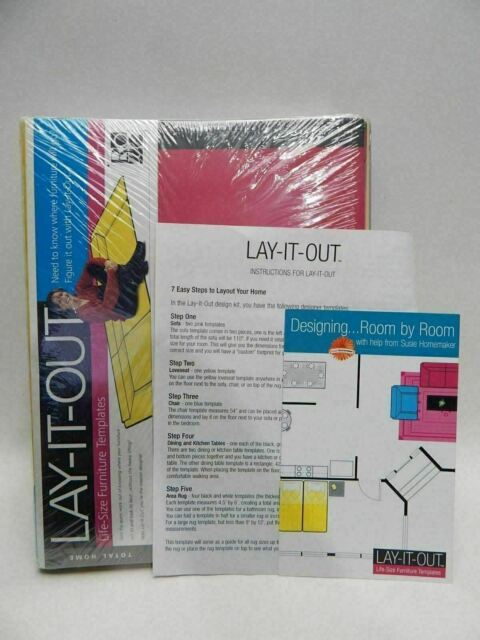 Room Design Layout Templates: Lay It Out Furniture Templates Kit Moving Room Layout
