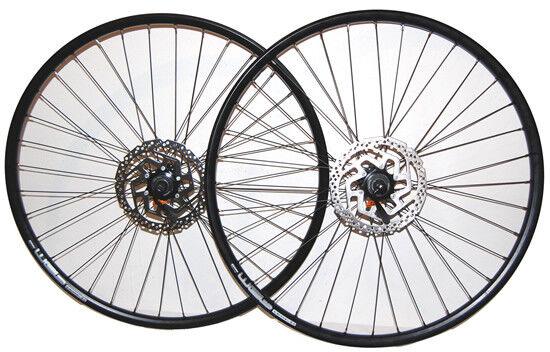 28  LaufradSet SchwarzRodi RimsWEB Hohlkammer incl.Bremsscheiben Disc CL180mm