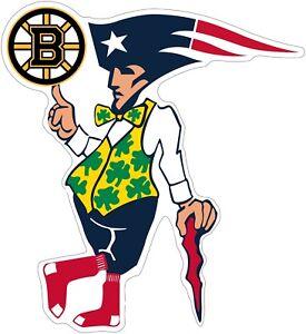 Boston-Guy-Sports-Teams-Logo-Mash-Up-Vinyl-Decal-You-Choose-Size-3-034-28-034