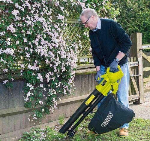 Draper 3000W électrique jardin feuille herbe broyeur souffleur hoover aspirateur vac 82104