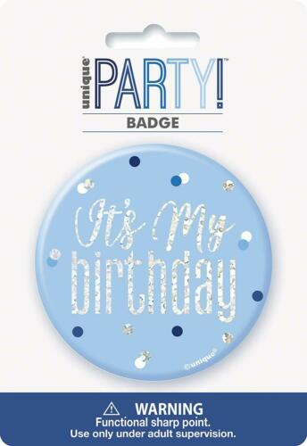BLING Party Decorations and Tableware for 80th Birthday Glitz Blue