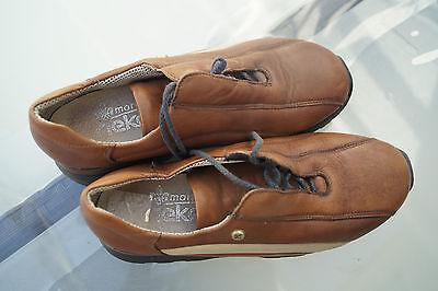 bequeme Markus RIEKER Damen Schuhe Halbschuhe Leder Gr.36 braun TOP #8