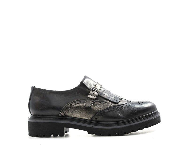 Schuhe ISALOVE Damenschuhe NERO Brogue,PU ISAAN1301.NE.01