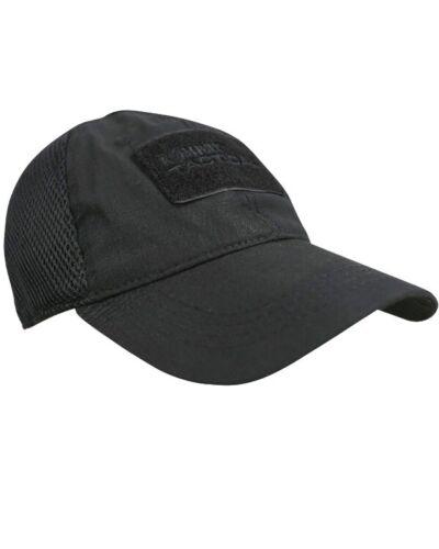 Kombat UK Operators mesh baseball cap hat Black Airsoft