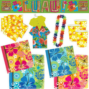 hawaii party deko strandparty geburtstag beachparty dekoration motto luau aloha ebay. Black Bedroom Furniture Sets. Home Design Ideas