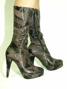 patent leather knee boots size 5 16 heels 5 5