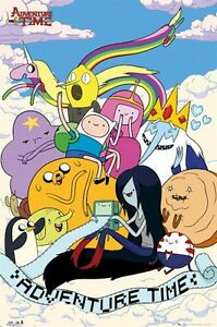 ADVENTURE TIME POSTER ~ SCROLL CAST 24x36 Cartoon Network Finn Jake Ooo