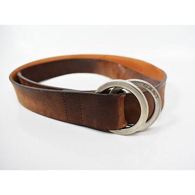 Gant Woman Leather Belt Brown Large Size Medium