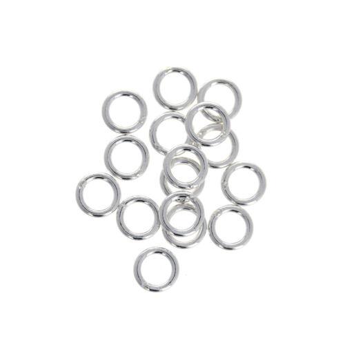1mm 10 Piece Sterling Silver 5mm Closed 18 gauge Jump Ring 5mm Diameter