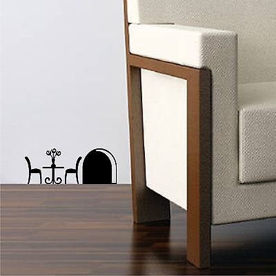 Mouse Hole And Table Vinyl Wall Decal Sticker Children Decor Vinyl Sticker Decor