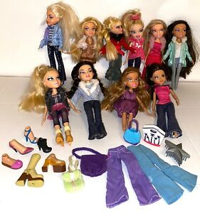 BRATZ Dolls Bulk Lot with Extra Clothes and Accessories