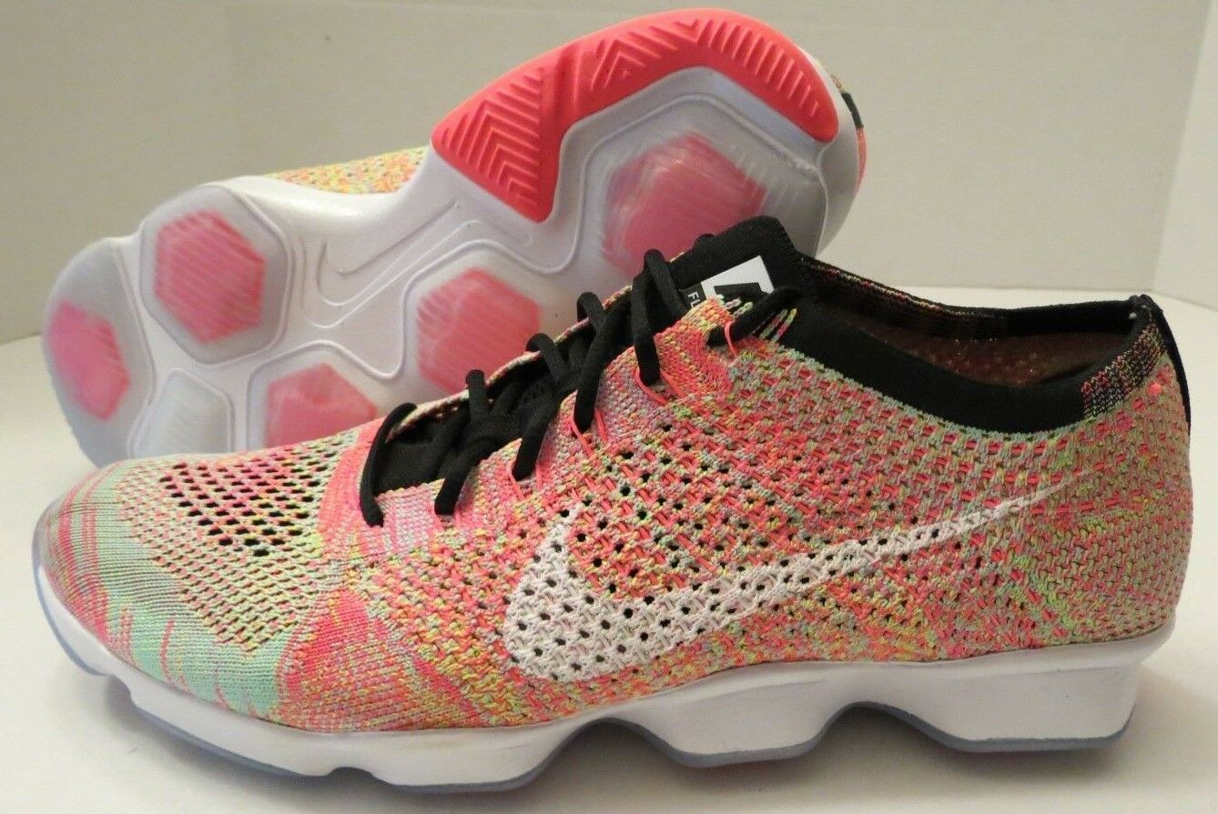 NIKE WMNS FLYKNIT ZOOM AGILITY 698616 002 multi-color WOMEN'S 11 NEW (NO BOX)