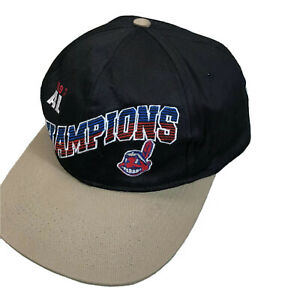 Vintage-1997-AL-Champions-Cleveland-Indians-Hat-Chief-Wahoo-Embroidered-Logo