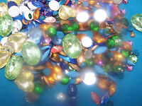 Vintage Stone Grab Bag Rhinestones, Czwch Crystal, Acrylic, Glass Stones, Cabs