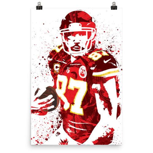 Travis Kelce Kansas City Chiefs Poster FREE US SHIPPING