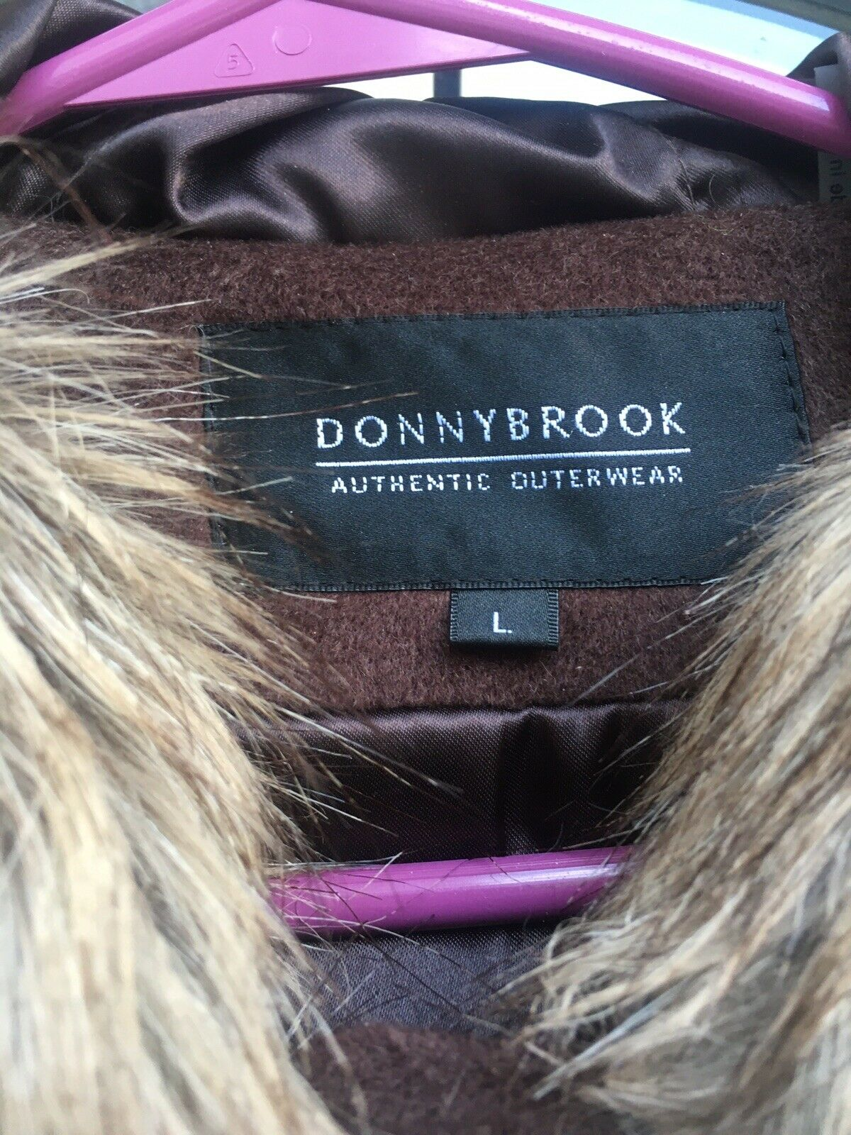 donnybrook Womens Large Coat Brown Plush - image 2