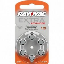60 x Rayovac hörgerätebatterien 13 extra Advanced 1,45v 310mah 13au-6xemf