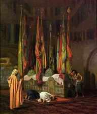Jean Leon Gerome la tumba de Imam Hussain A4 impresión