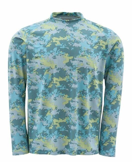 Simms SOLARFLEX Shirt Long Sleeve  Saltwater Camo NEW  Small Closeout