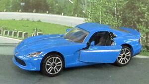 DODGE-SRT-Viper-1-60-Blu-MAJORETTE-Nuovo-di-zecca-in-confezione-passeggero-Diecast
