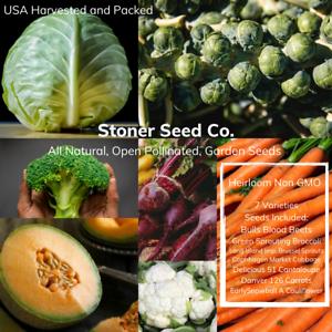 350+ Heirloom Vegetable Seed 7 Variety Garden Pack #1 Emergency Survival Non-GMO