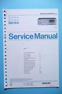 original Tv, Video & Audio Einfach Service Manual-anleitung Für Philips N 5431