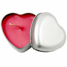 LOVE HEART SHAPED RED CANDLE IN TIN BOX VANILLA FRAGRANCE GIFT VALENTINE