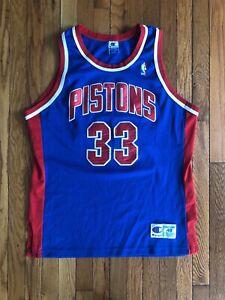 90/'s RARE Vintage Grant Hill Detroit Pistons Basketball Jersey