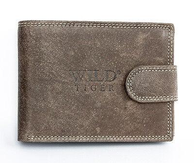 Men's brown genuine leather wallet. Worldwide delivery. Immediate shipment.