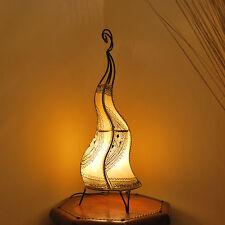 Orientalische Hennalampe Marokko Lampe Lederlampe  Stehleuchte Natur H58cm