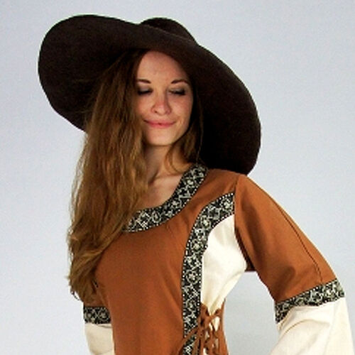 Damen Schlapphut Sonnenhut eleganter Trend Hut mit großer breiter Krempe Filzhut