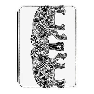 Henna-Elephant-Design-Aztec-Kindle-Paperwhite-Touch-PU-Leather-Flip-Case-Cover