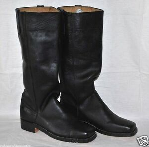 Image Is Loading Stove Pipe Boots Sizes 8 13 Black Leather