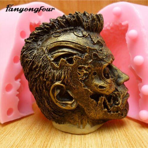 Cabeza de silicio 3D Arnold Schwarzenegger Molde Molde Para Jabón Vela De Manualidades Hágalo usted mismo