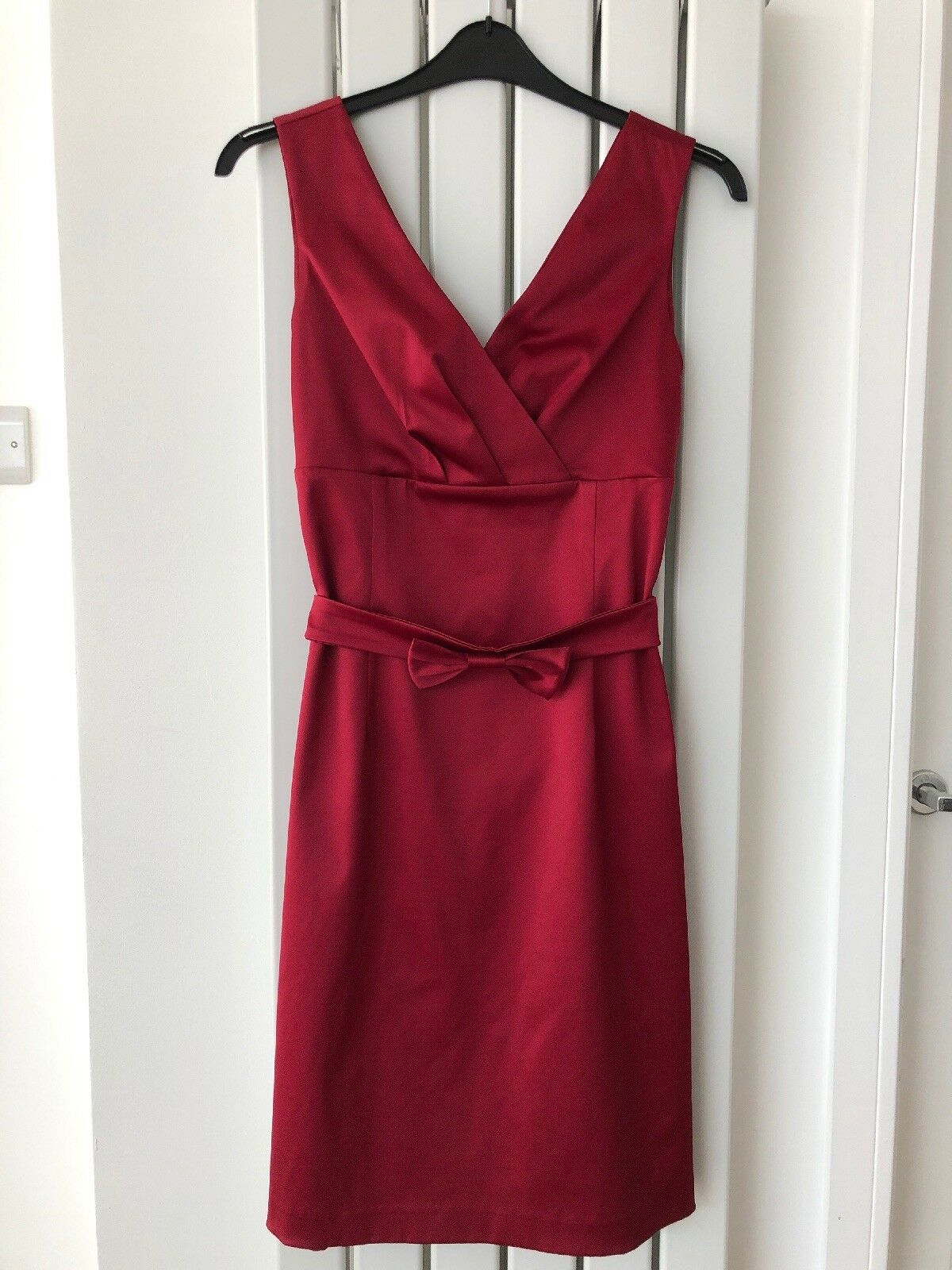 Kaliko Dress Size 16 Red Satin Lined Evening Party Occasion