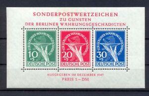 Berlin-Block-1-III-Waehrungsgeschaedigte-postfrisch-geprueft-HD-Schlegel-gr308