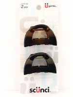 Scunci Jaw Hair Clips - Black & Tortoise - 2 Pcs. (17701-w)