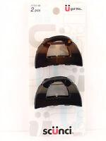 Scunci Jaw Hair Clips - Black & Tortoise - 2 Pcs. (17701-w)