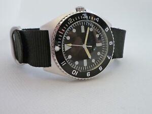 Time-Arrow-Military-Benrus-Type-I-STERILE-Submariner-Miyota-movement