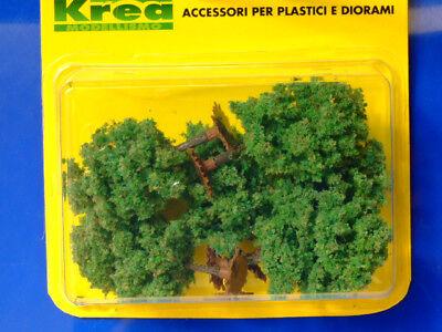 Alberi per modellismo verdi con fiori gialli 6 pz H.cm 1:87 Krea 6,5  HO