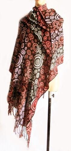 Purple//Red//Green Reversible Women/'s Silk Pashmina Two-Face Shawl Scarf Wrap new