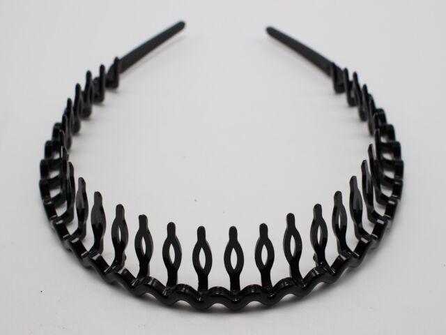 8 Black Plastic Wave Hair Band Headband 8mm with Teeth Hair Accessories fc244a9a11d