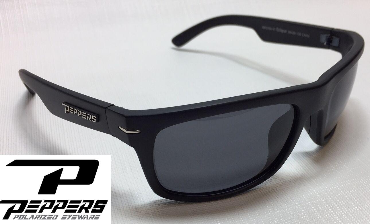 7f77957a17e Peppers Mp5709-41 Eclipse Polarized Sunglasses Matte Black smoke ...